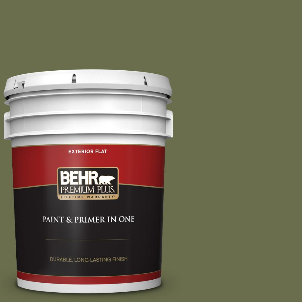 5 gal. #S370-7 Outdoor Oasis Flat Exterior Paint and Primer in One