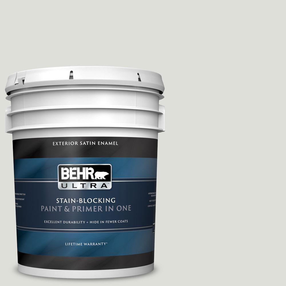 5 gal. #MQ3-23 Statuesque Satin Enamel Exterior Paint and Primer in One