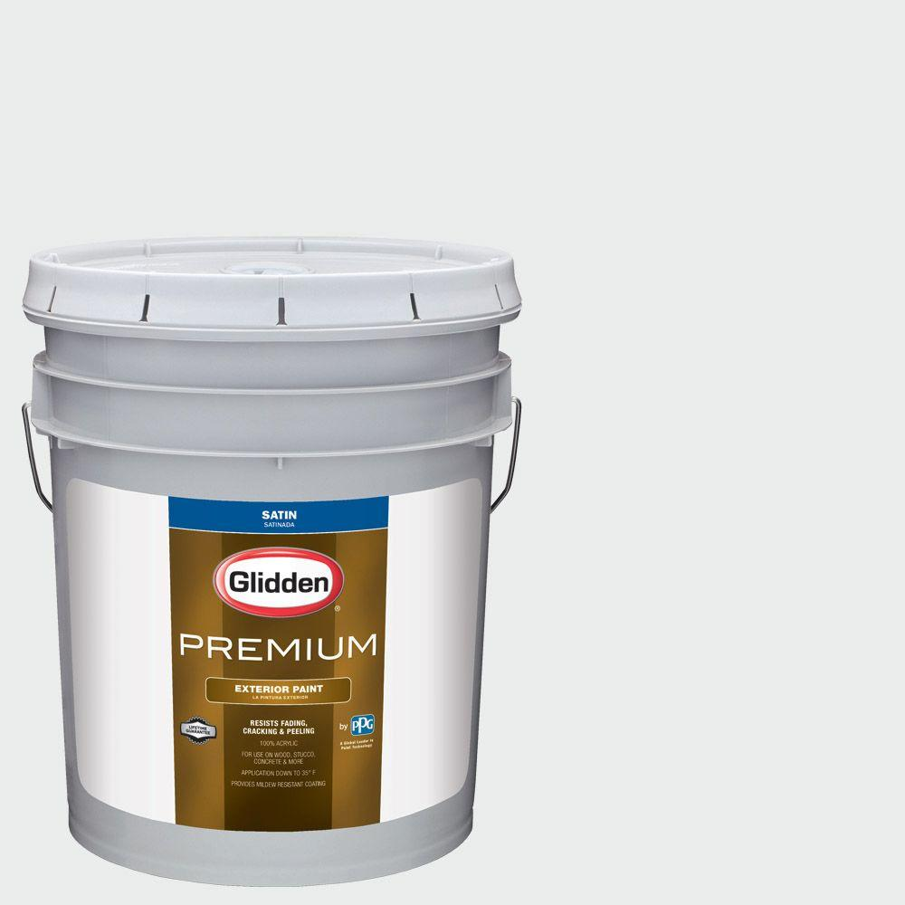 5-gal. #HDGCN56 Drifting Snow Satin Latex Exterior Paint