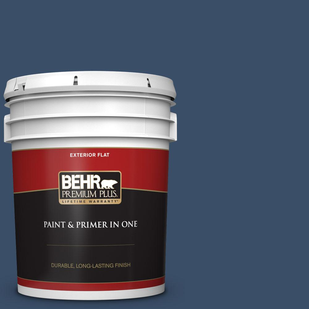 5 gal. #M510-7 Inked Flat Exterior Paint and Primer in One