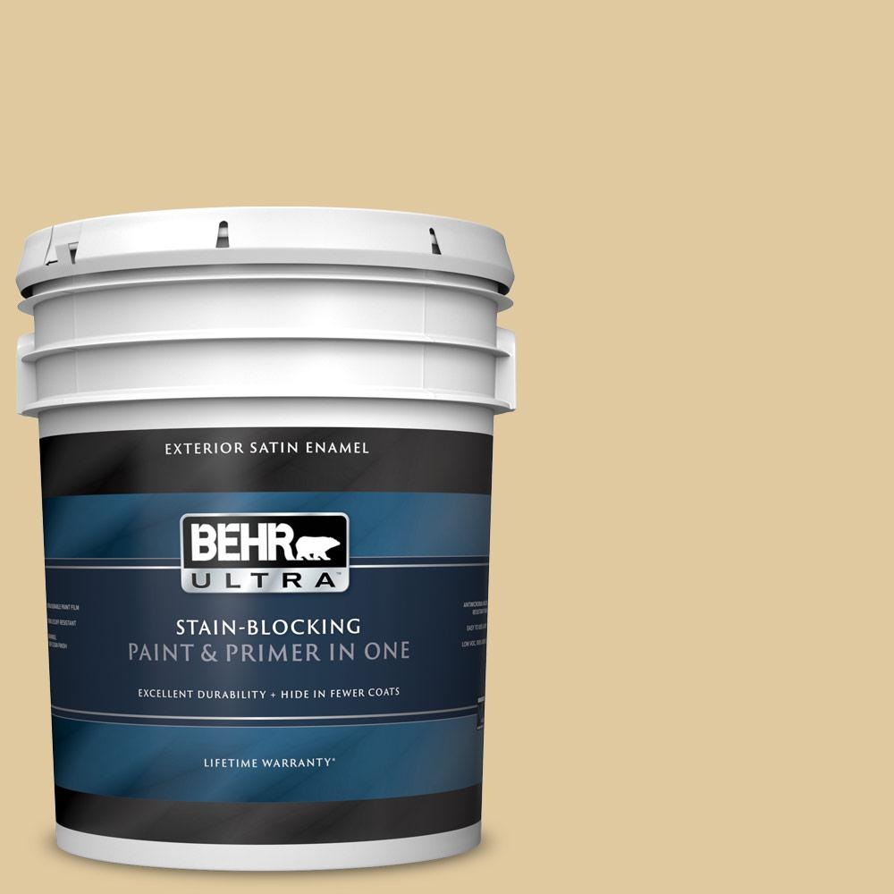 5 gal. #PPU7-19 Crepe Satin Enamel Exterior Paint and Primer in One