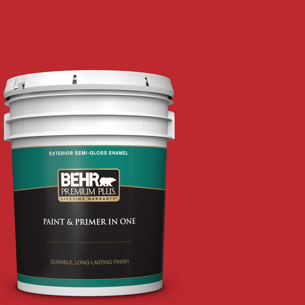 5 gal. #P150-7 Flirt Alert Semi-Gloss Enamel Exterior Paint and Primer in One
