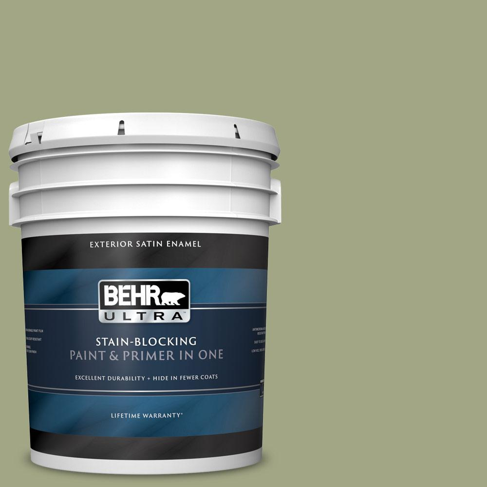 5 gal. #S370-4 Rejuvenation Satin Enamel Exterior Paint and Primer in One