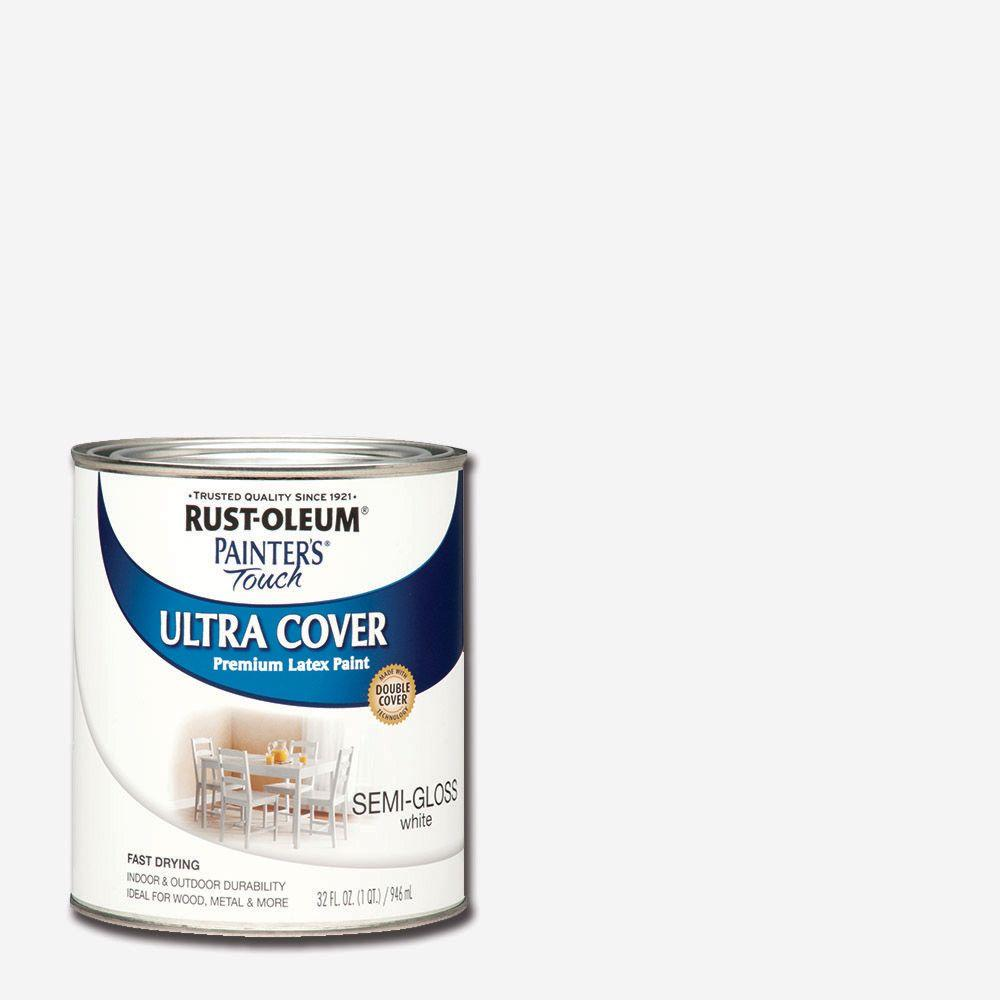 32 oz. Ultra Cover Semi-Gloss White General Purpose Paint (Case of 2)