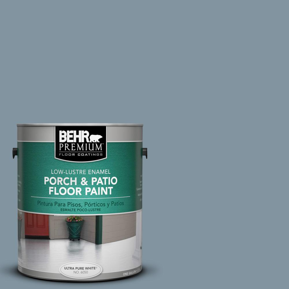 1 gal. #PFC-54 Blue Tundra Low-Lustre Enamel Interior/Exterior Porch and Patio Floor Paint