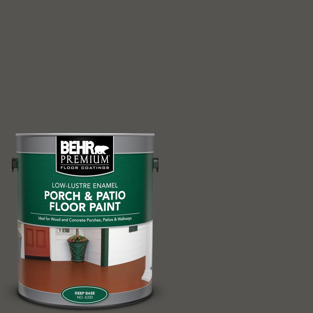 1 gal. #BXC-17 Dominant Gray Low-Lustre Enamel Interior/Exterior Porch and Patio Floor Paint