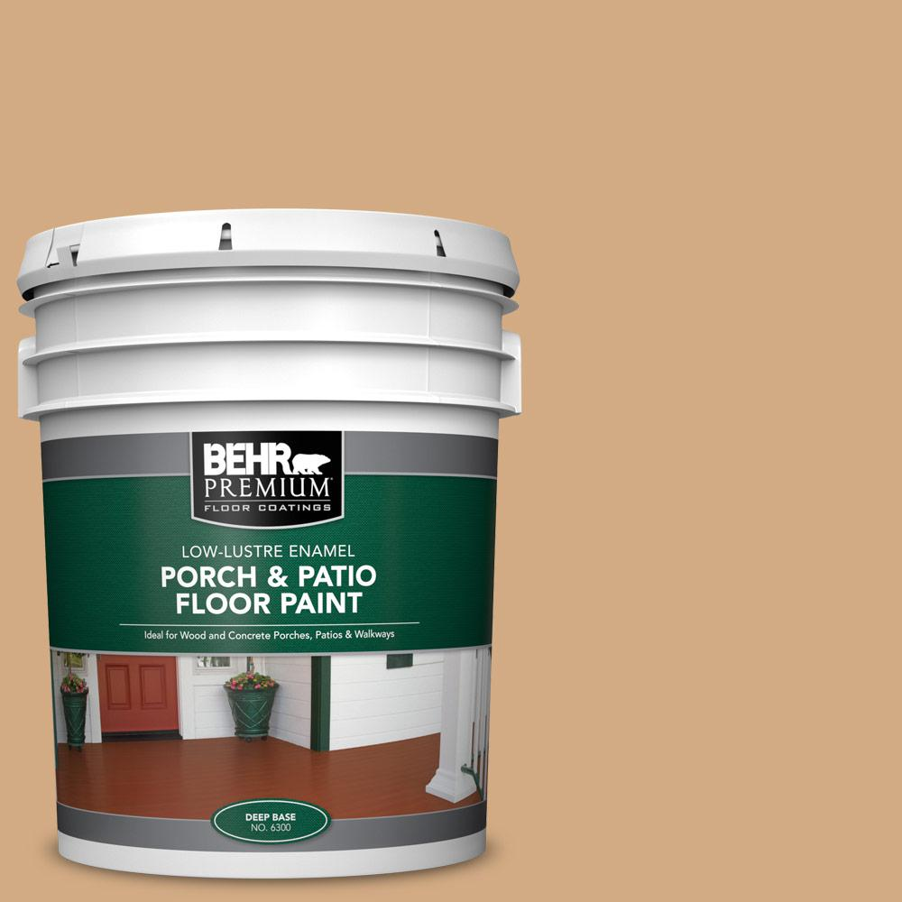 5 gal. #PFC-22 Cold Lager Low-Lustre Enamel Interior/Exterior Porch and Patio Floor Paint