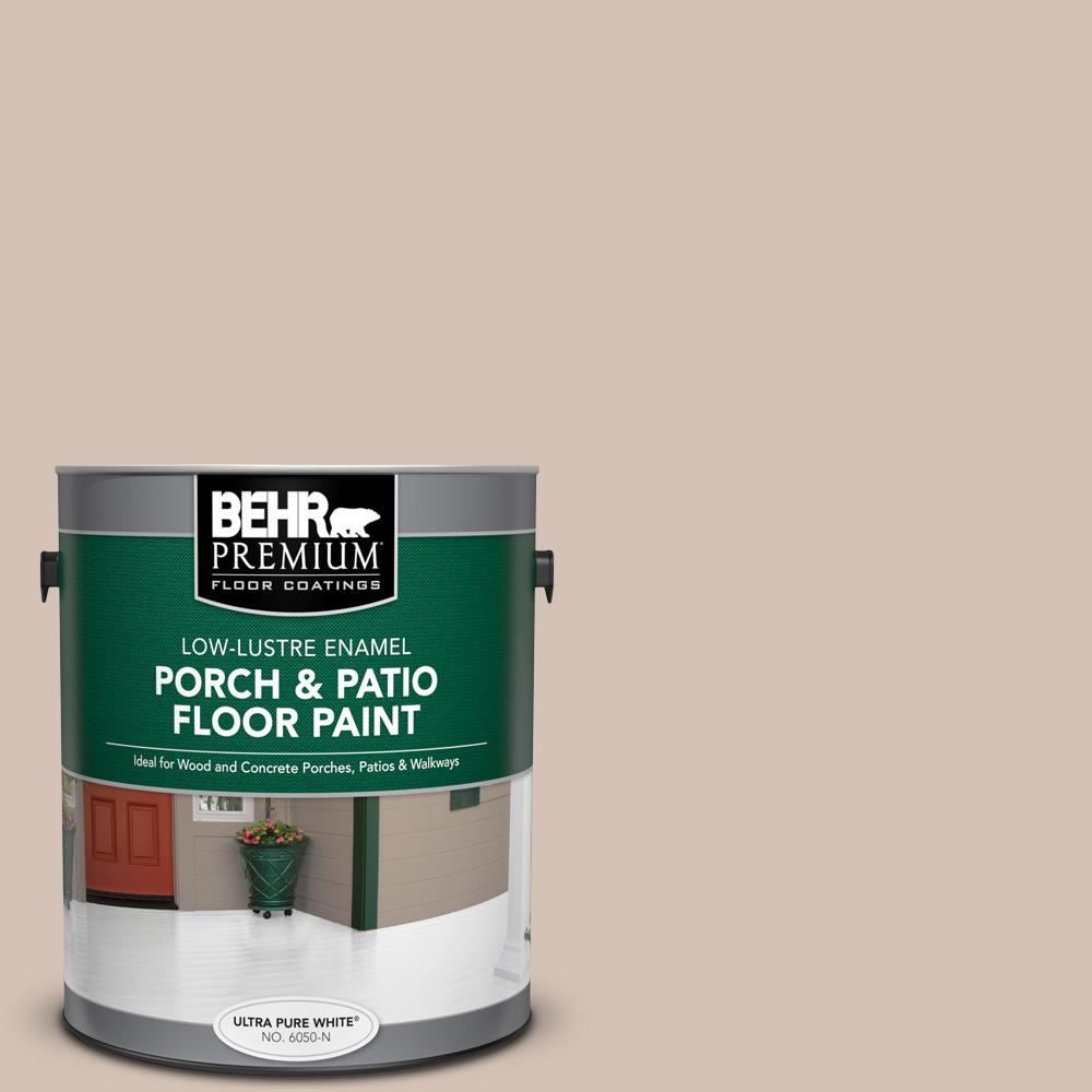 1 gal. #BIC-02 Hazy Taupe Low-Lustre Enamel Interior/Exterior Porch and Patio Floor Paint