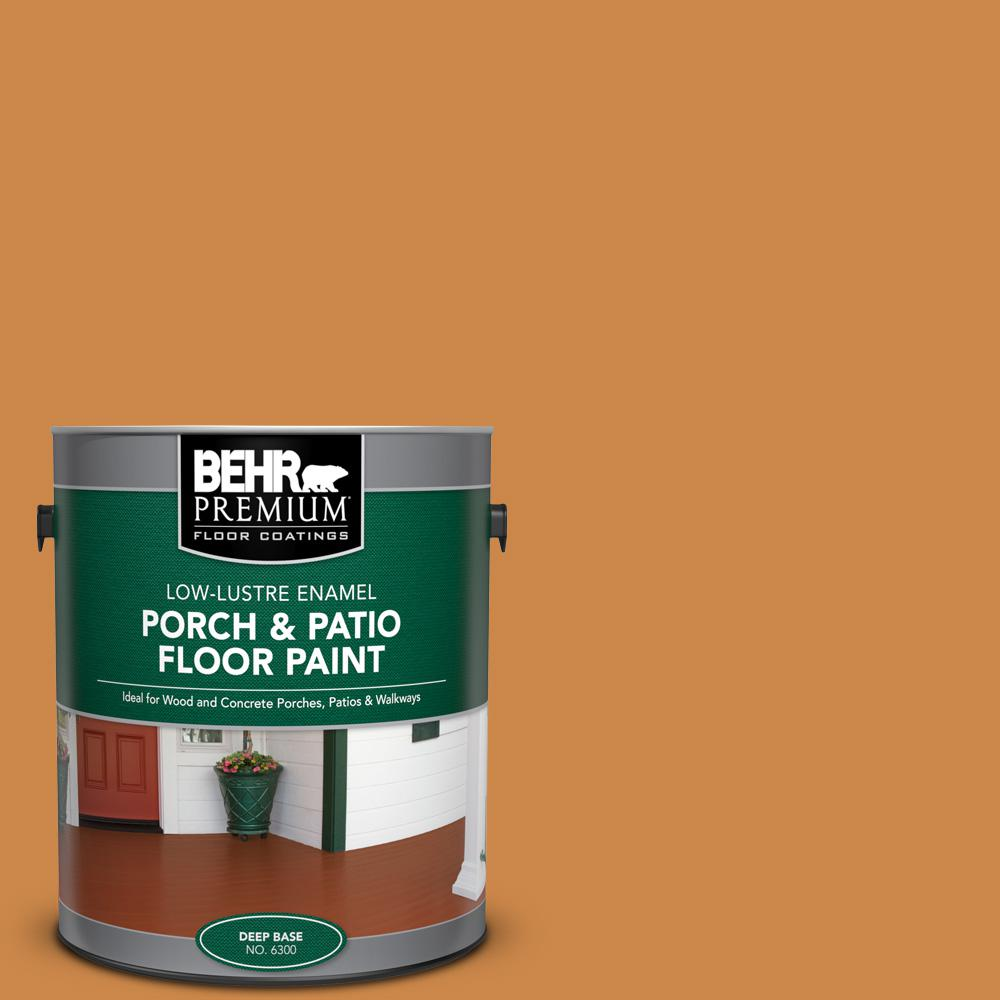 1 gal. #M240-7 Golden Pumpkin Low-Lustre Enamel Interior/Exterior Porch and Patio Floor Paint