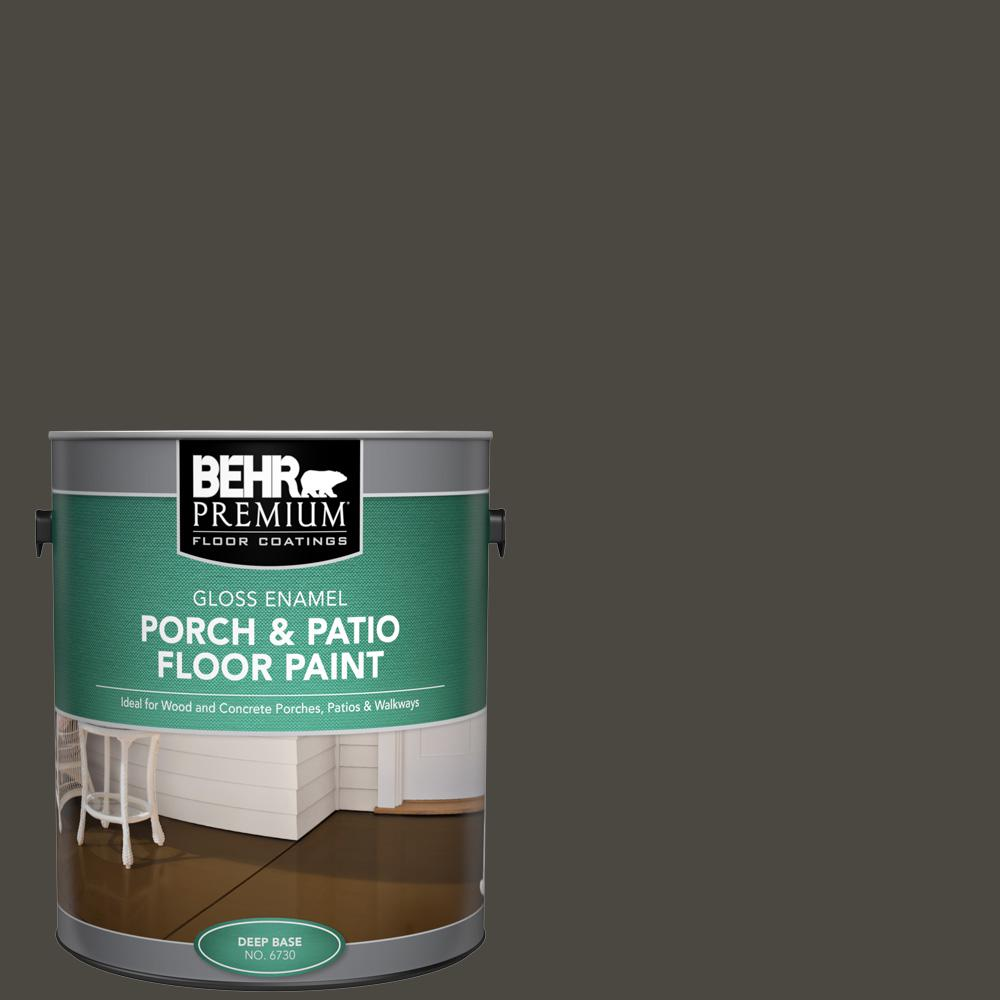 1 gal. Home Decorators Collection #HDC-CL-14A Warm Onyx Gloss Enamel Interior/Exterior Porch and Patio Floor Paint