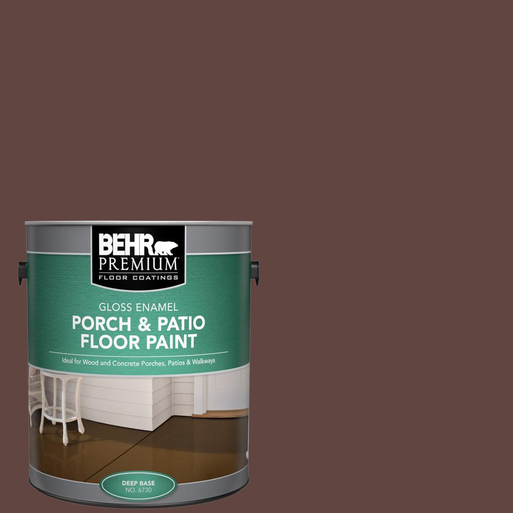 1 gal. #PPU3-20 Cinnabark Gloss Enamel Interior/Exterior Porch and Patio Floor Paint