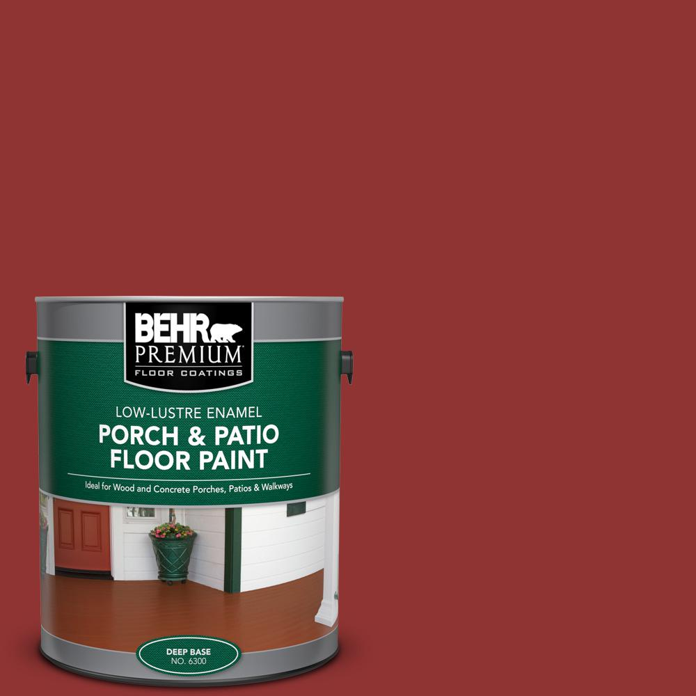 1 gal. #BIC-49 Red Red Red Low-Lustre Enamel Interior/Exterior Porch and Patio Floor Paint