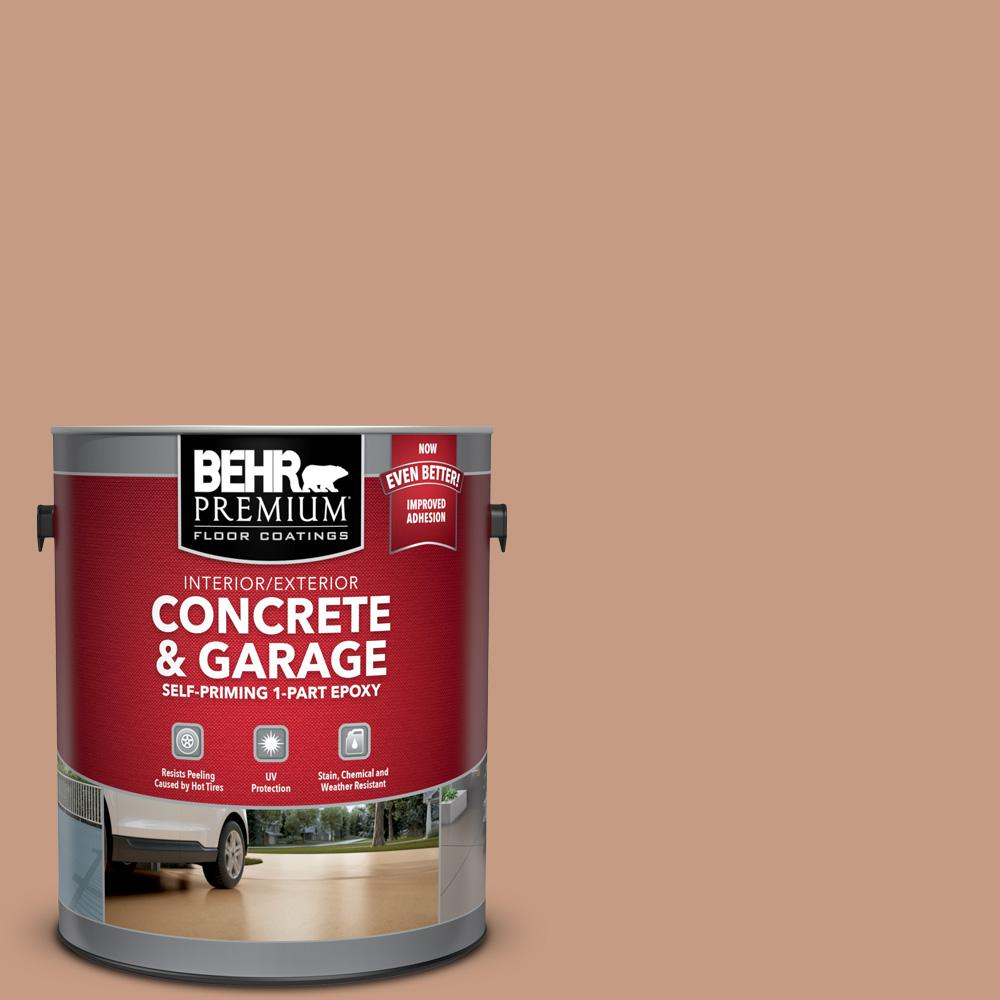1 gal. #S210-4 Canyon Dusk Self-Priming 1-Part Epoxy Satin Interior/Exterior Concrete and Garage Floor Paint