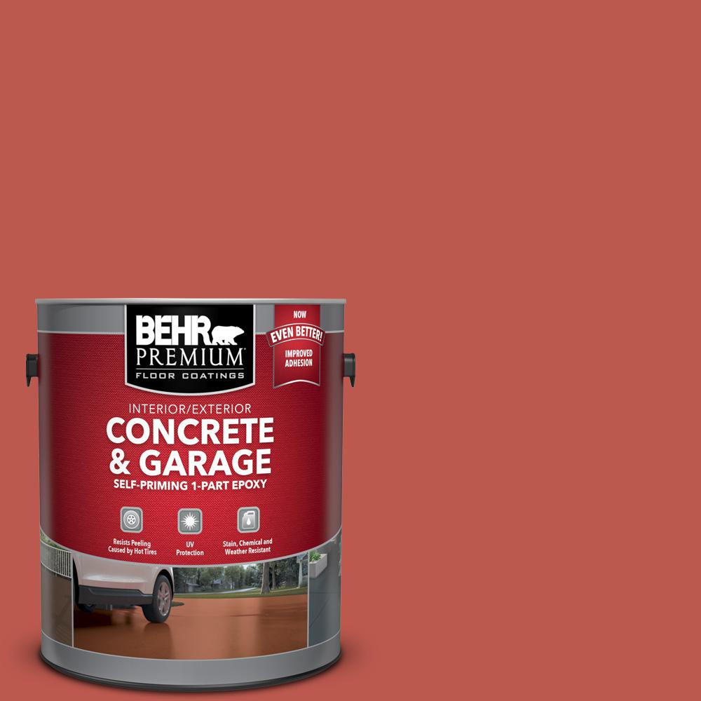 1 gal. #M170-7 Tandoori Self-Priming 1-Part Epoxy Satin Interior/Exterior Concrete and Garage Floor Paint