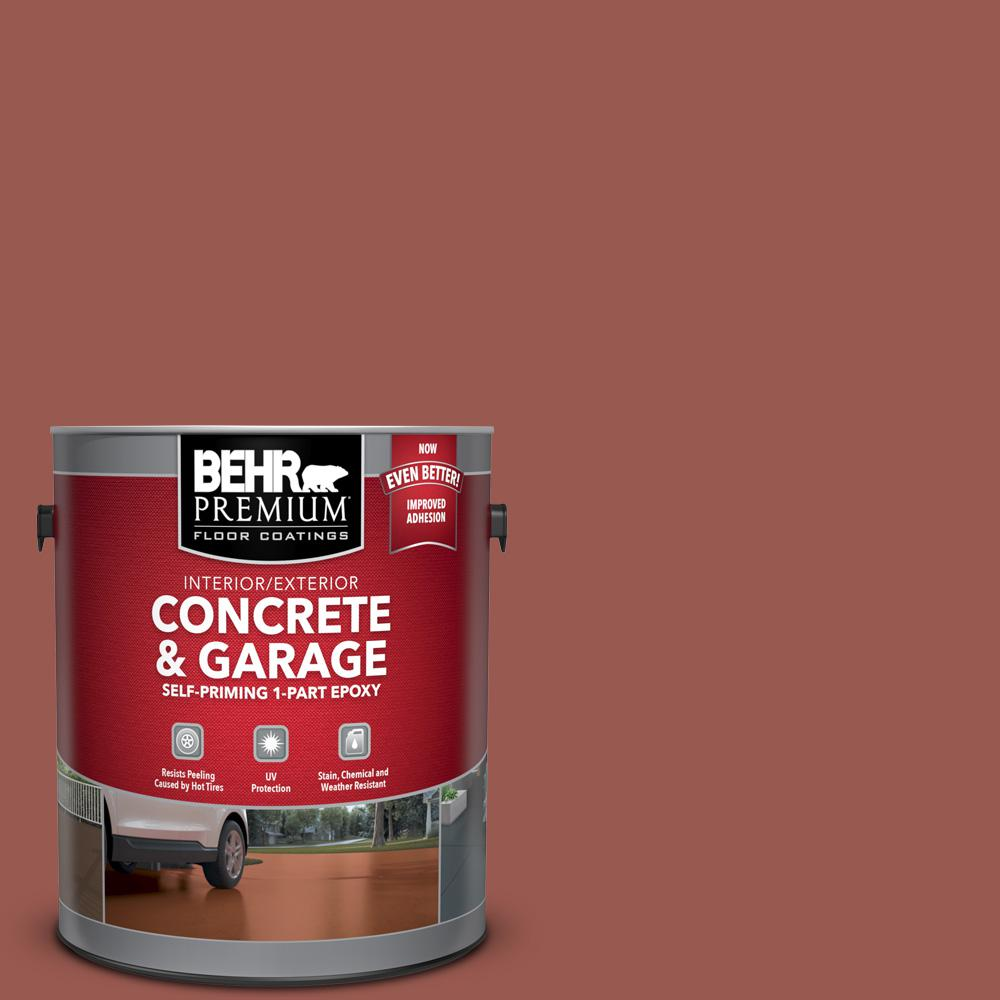 1 gal. #S160-6 Red Potato Self-Priming 1-Part Epoxy Satin Interior/Exterior Concrete and Garage Floor Paint
